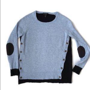J. Crew Navy Blue Sweater Elbow Patches s euc